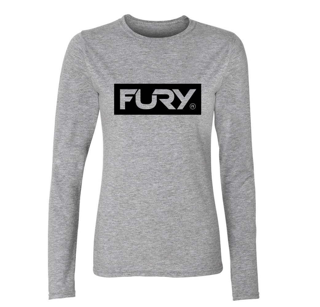 Women's sports grey long sleeve t shirt | Wakeboarders Clothing